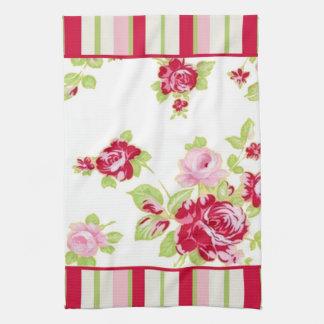 Roses & Stripes Kitchen Towel