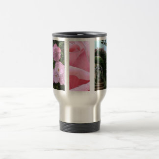 Roses travel mug stein