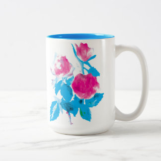 Roses Two-Tone Coffee Mug