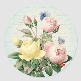 Roses vintage floral girly and feminine sticker