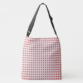 Roses-Vintage-Red-Cross-Over Crossbody Bag