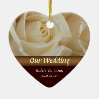 Roses Wedding Favor Keepsake Ceramic Heart Decoration
