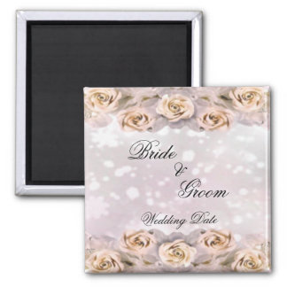 Roses Wedding Favor Magnet