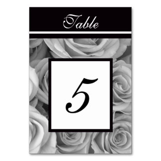 Roses Wedding Table Numbers Cards Table Card