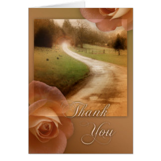Roses Winding Road Sympathy Thank You Card