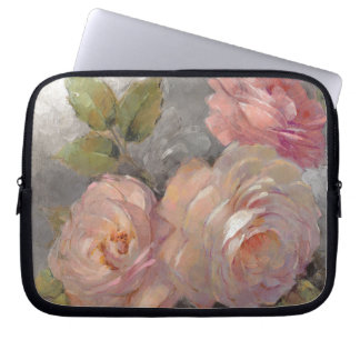 Roses with Gray Laptop Sleeve