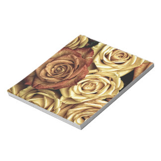Roses yellow and red notepad