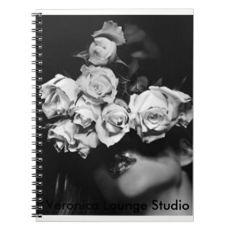 """Roses, You"" Notebook by Veronica Lounge"