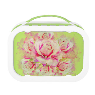 Roses Yubo Lunchbox, Green Lunch Box
