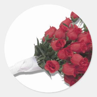 RosesInPapertowel072310 Round Sticker