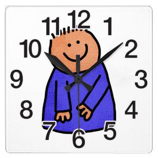 Rosetta Square Wall Clock