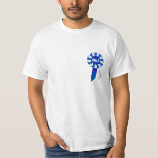 Rosette in Blue and White No. 1 Adult Tee Shirt