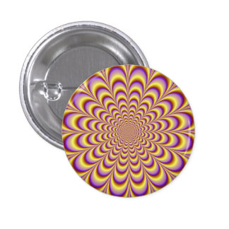 Rosette in Yellow and Lilac Button