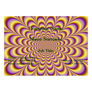 Rosette in Yellow and Lilac Card Large Business Cards (Pack Of 100)
