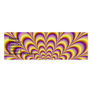 Rosette in Yellow and Lilac Card Pack Of Skinny Business Cards