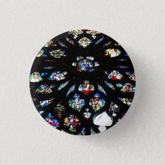 Rosette of Notre-Dame, Paris 3 Cm Round Badge