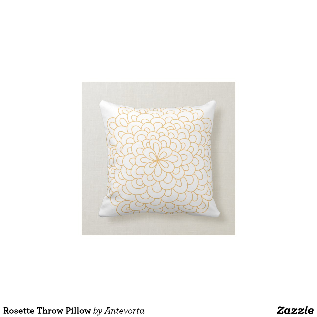 Rosette Decorative Pillow : Rosette Throw Pillow Zazzle