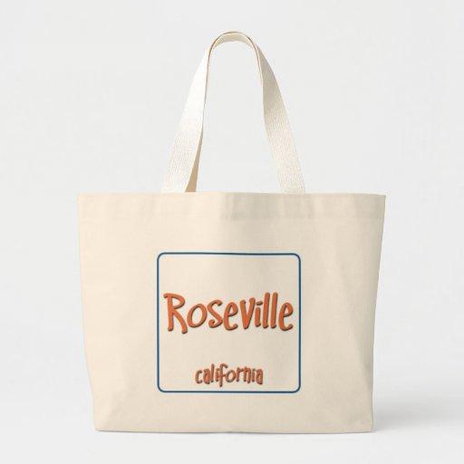 Roseville California BlueBox Canvas Bag
