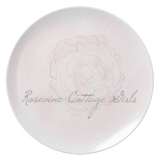 Rosevine Cottage Girls Cabbage Rose Plate
