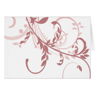 Rosewood and Pink Double Flourish Card