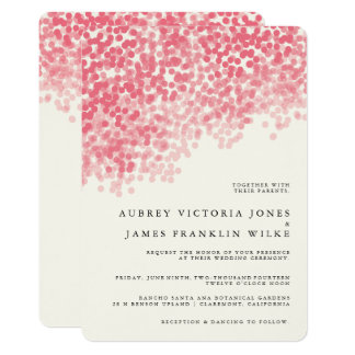 Rosey Light Shower | Rustic Wedding Invitations