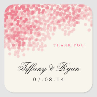 Rosey Pink Light Shower Favor Stickers