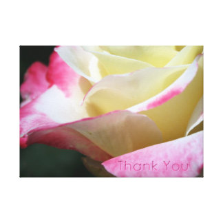 ROSEY THANK YOU STRETCHED CANVAS PRINTS