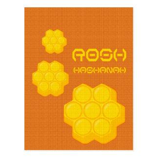 rosh hashanah honeycombs postcard