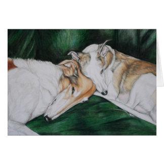 """""""Rosie & Bailey"""" Dog Art Greeting Card"""