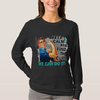 Rosie Keep Calm Cervical Cancer.png T-Shirt