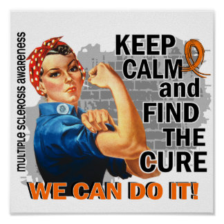 Rosie Keep Calm Multiple Sclerosis.png Poster