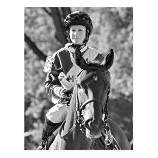 Rosie Napravnik on Delaunay  The Vanderbilt stakes Postcard