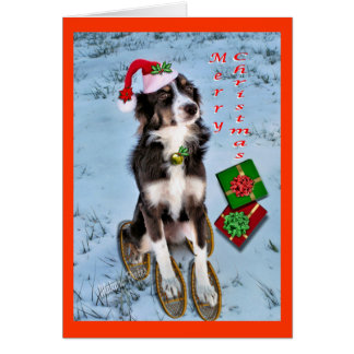 Rosie & Presents- customize Greeting Card