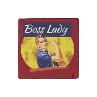 Rosie Riveter Boss Lady Stone Magnet