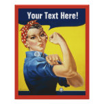Rosie Riveter with Customise Text