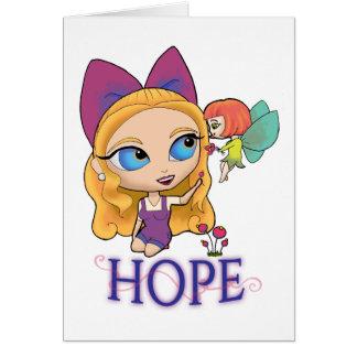 """Rosie & Rockette """"HOPE"""" Greeting Card"""