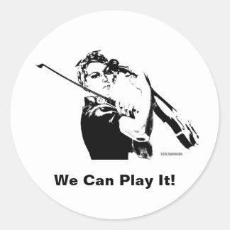 Rosie the Fiddler Classic Round Sticker