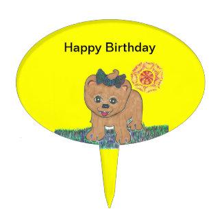 Rosie The Pomeranian Puppy Cake Pick