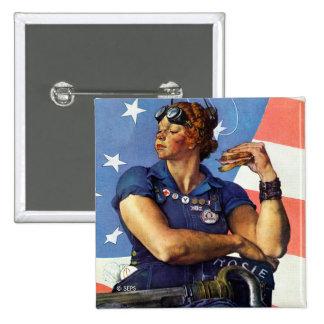 Rosie the Riveter 15 Cm Square Badge