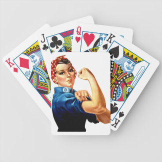 Rosie The Riveter Bicycle Playing Cards