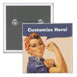 Rosie the Riveter! Button