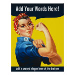 Rosie The Riveter (Customised) Poster