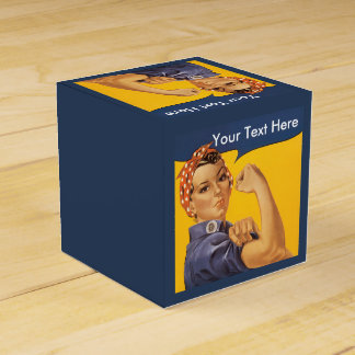 Rosie the Riveter Customize With Your Text Favour Box