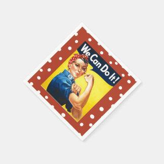 Rosie the Riveter Disposable Serviettes