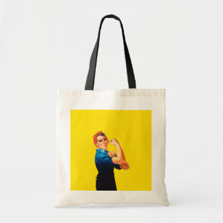 Rosie The Riveter Figure Retro Style Budget Tote Bag