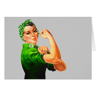Rosie The Riveter - Green Military Card