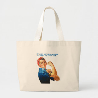 "ROSIE THE RIVETER - ""It takes a strong woman"" Jumbo Tote Bag"