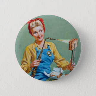 Rosie the Riveter Makes Toasted Cheese 6 Cm Round Badge