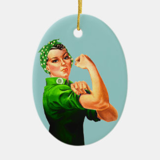 Rosie The Riveter - Military Support Ceramic Oval Decoration