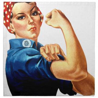 Rosie The Riveter Napkin
